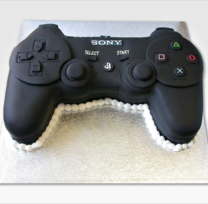 If my cousin ever gets married, I think her husband should have this cake..ps3 controller groom's wedding cake