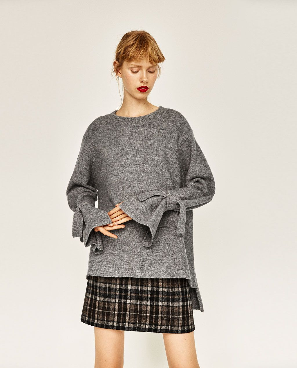 68c83f7117e0 Image 4 of SWEATER WITH TIE SLEEVES from Zara   My Style Inspiration ...