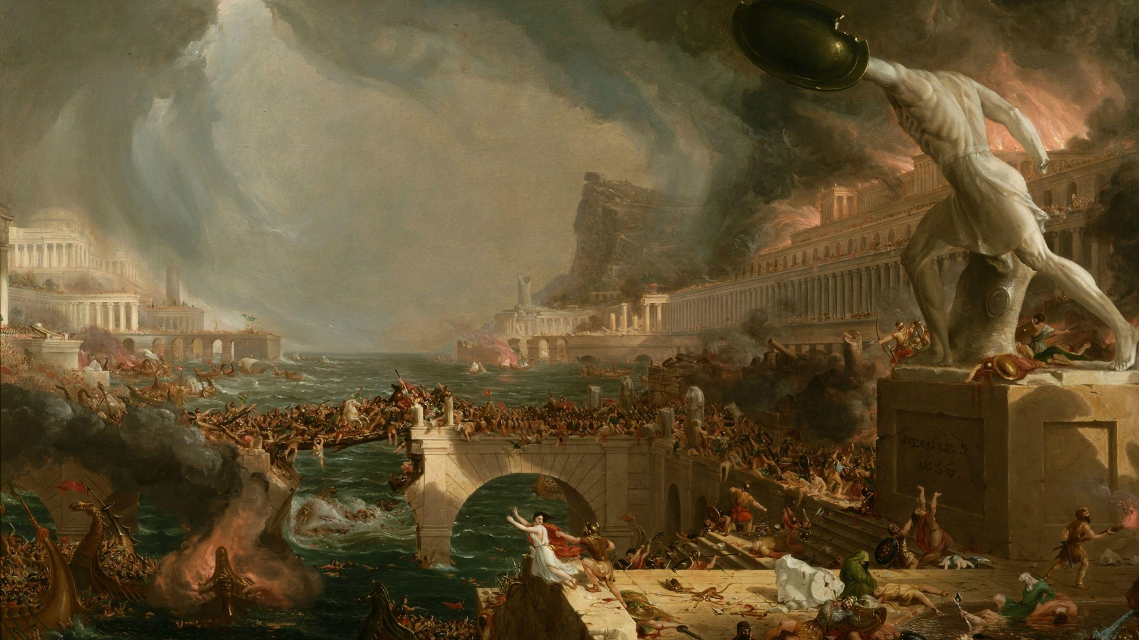 Attack Of Olympus By Ronald War Siege Ancient Greece 4k Wallpaper Hdwallpaper Desktop The Course Of Empire Greece Wallpaper Roman Empire