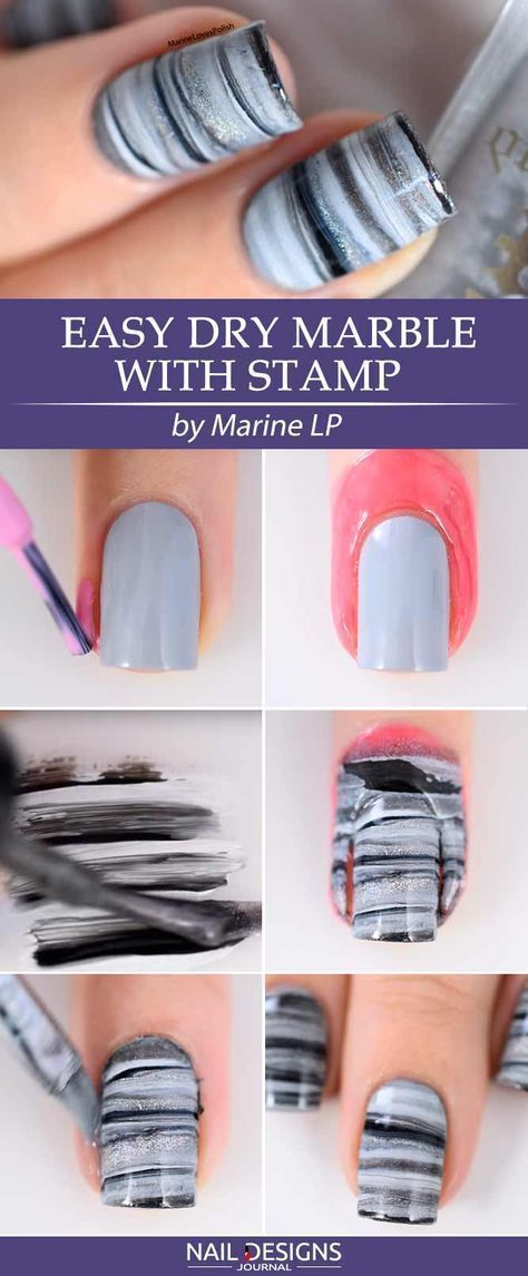 18 Easy Tutorials: Different Nail Designs Step-by-Step