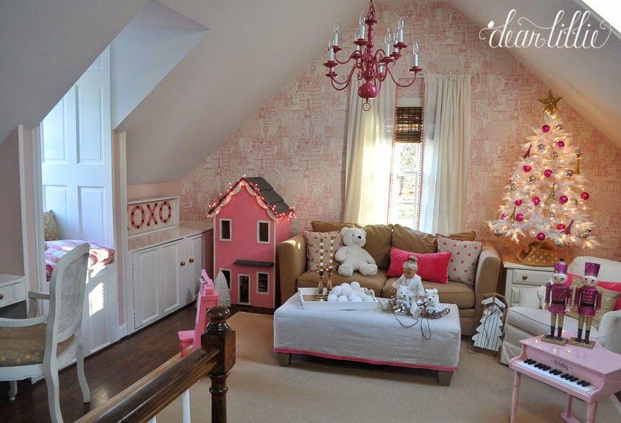 Dear Lillie A Very Pink Christmas Playroom Dear Lillie Playroom Pink Christmas A very pink christmas playroom