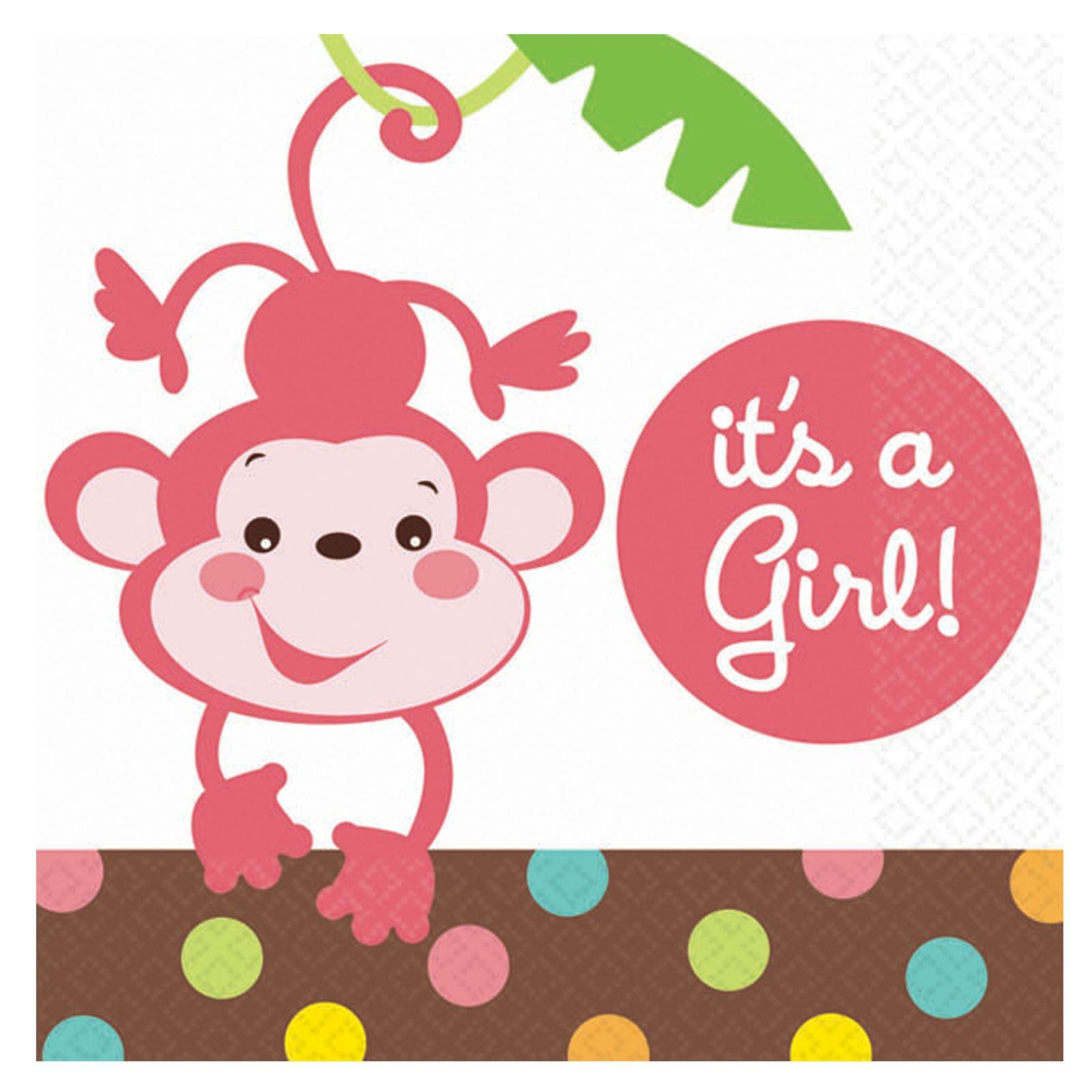 Great Jungle Theme Babyshower Girl Invitation