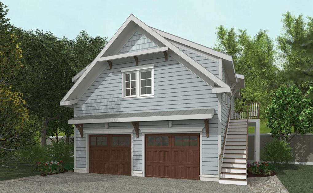 Winthrop Garage Adu Plan 1 Bedroom Carriage House Plans Garage Guest House Garage Door Design