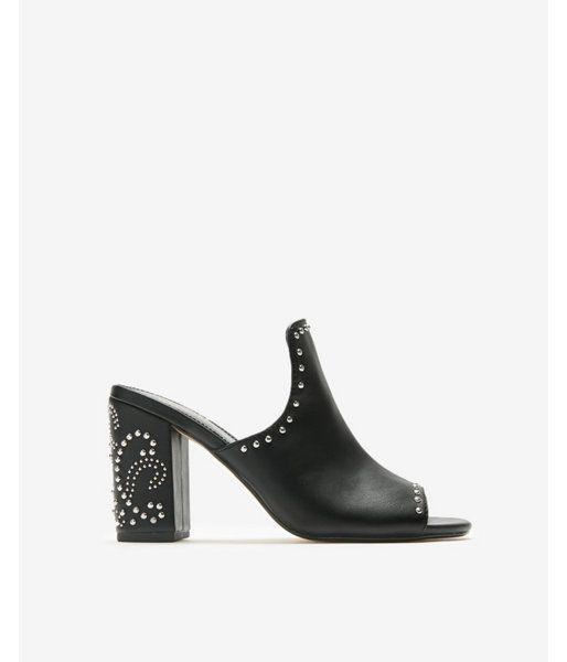 36eb58dbae35 Studded Western Heeled Sandals Black Women s 5