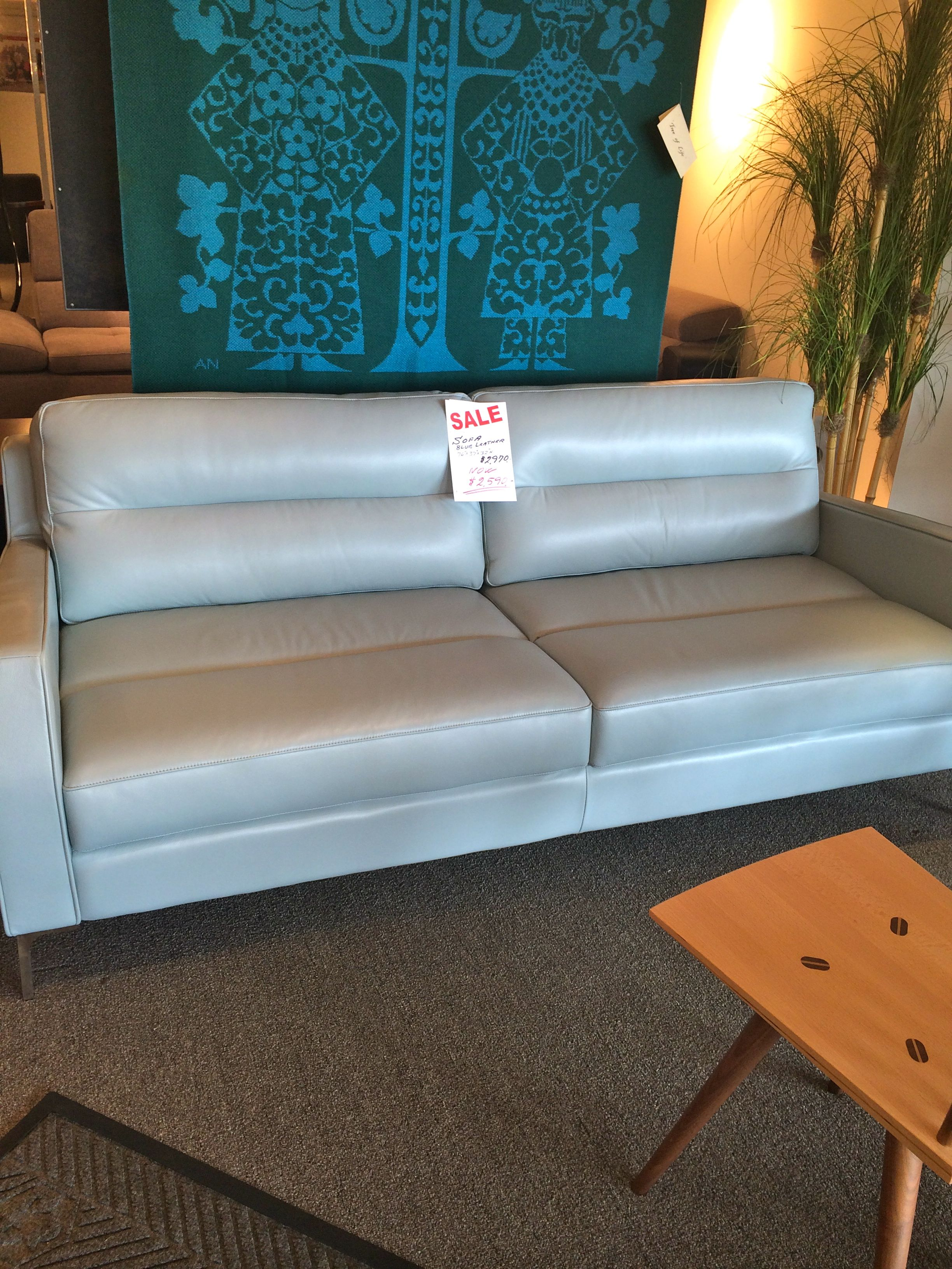A Beautiful Scandinavian Sofa At 2 Danes In Nashville Tn Very Subtle Blue Color Comfortable Too