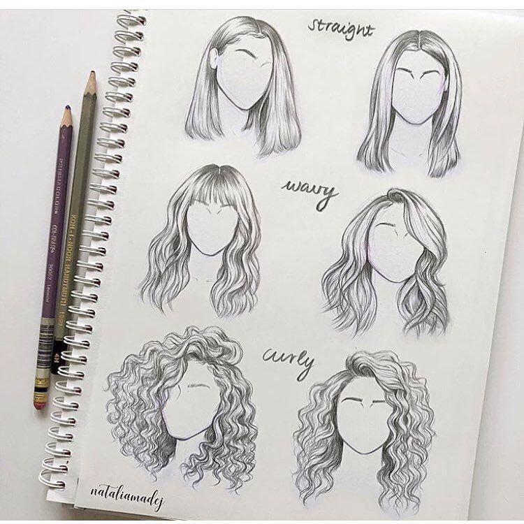 draw straight wavy curly