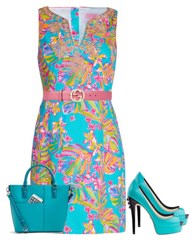 """LILLY"" by paula-parker ❤ liked on Polyvore featuring Lilly Pulitzer, Vera Bradley and Gucci"