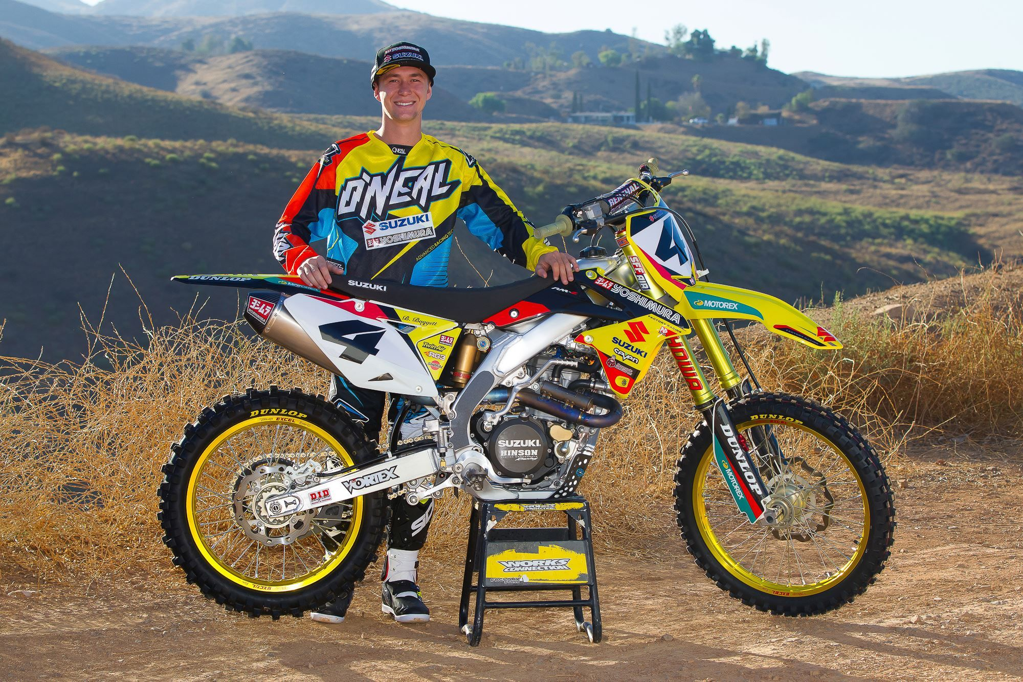 Yoshimura Suzuki Welcomes Blake Baggett To The Team Suzuki Motocross Racing Bikes Suzuki Dirt Bikes