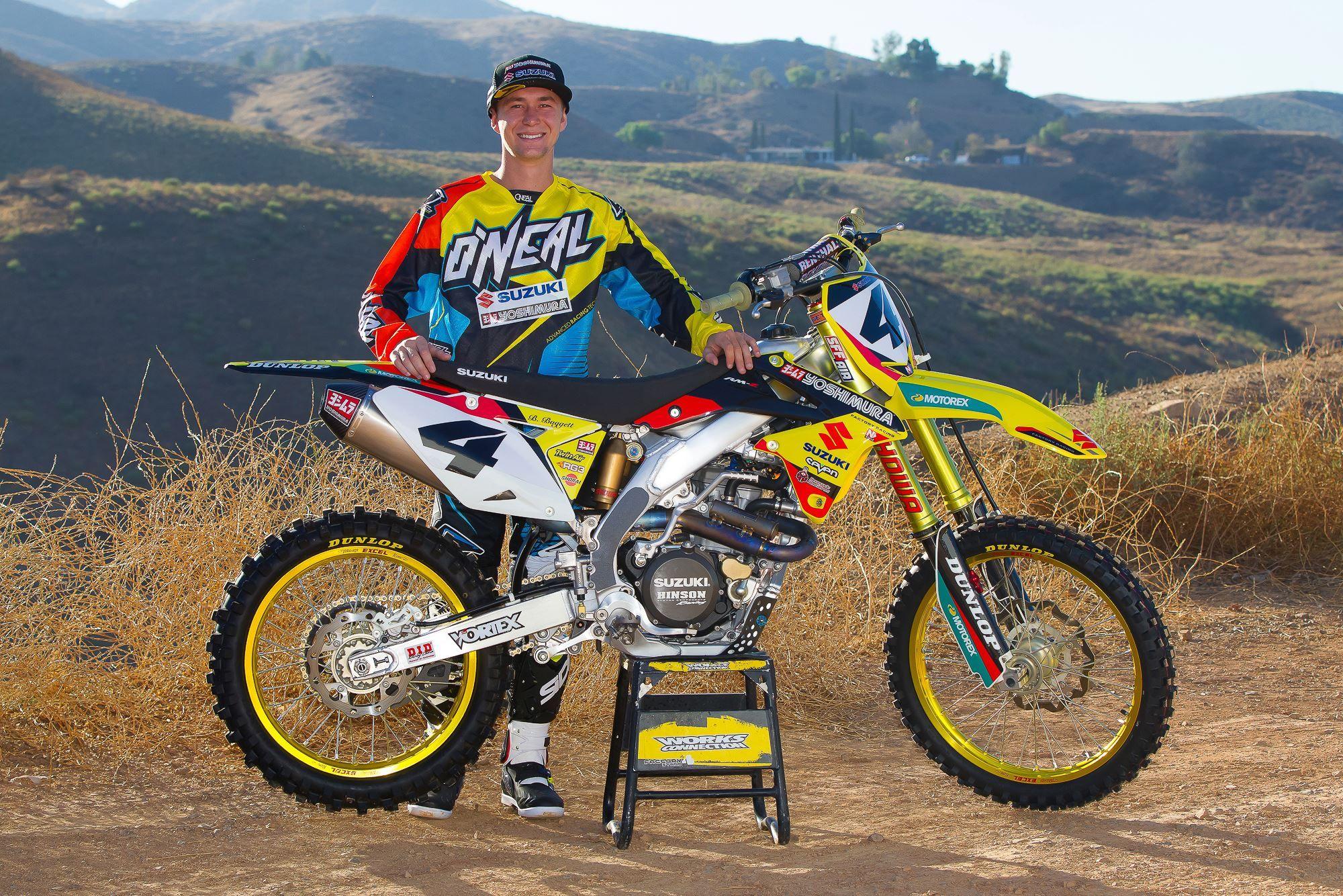 Yoshimura Suzuki Welcomes Blake Baggett To The Team Suzuki Motocross Racing Bikes Suzuki Dirt Bikes