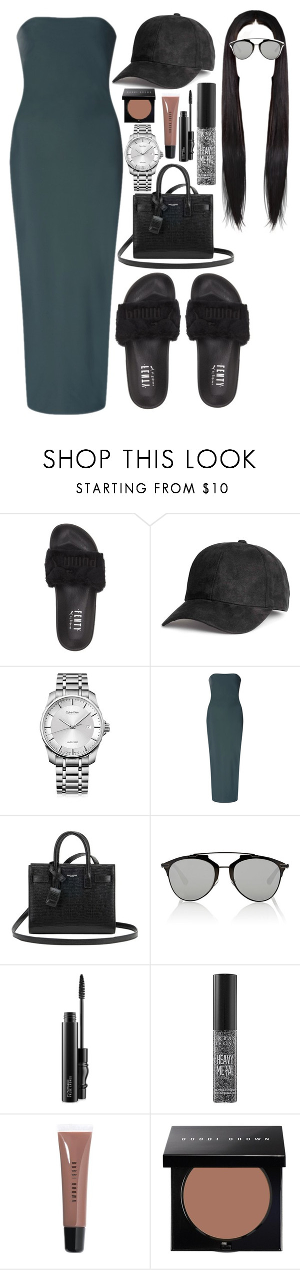 """""""Sans titre #1013"""" by perfectiongod ❤ liked on Polyvore featuring Puma, Calvin Klein, Flagpole, Yves Saint Laurent, Christian Dior, MAC Cosmetics, Urban Decay and Bobbi Brown Cosmetics"""