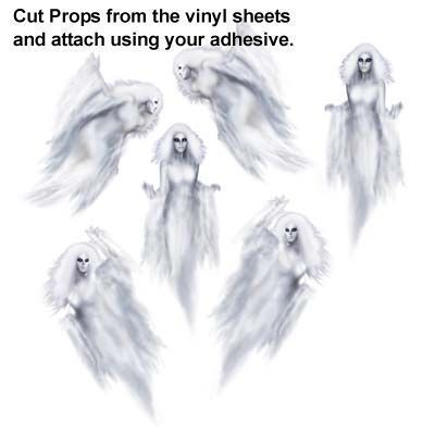 Ghost halloween party scary Scene Setters wall background Vinyl prop - halloween scene setters decorations