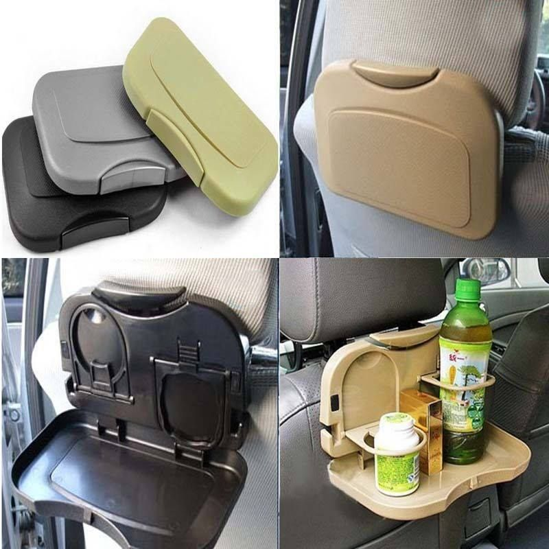 Multi-function Folding Car Back Seat Table Drink Food Cup Tablet Tray Holder.  Get online here >> http://ealpha.com/home-utility/folding-car-back-seat-table/8382