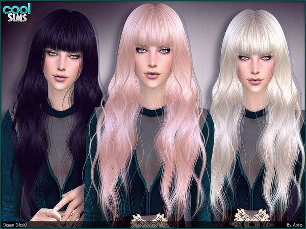 Sims 4 Ccs The Best Hair By Anto Sims 4 Mods Frisuren