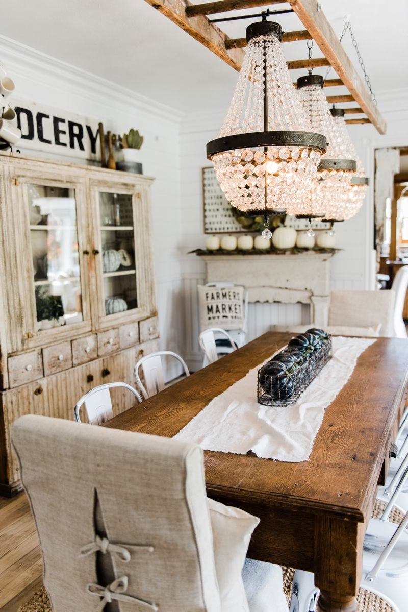 The Chandeliers Are Hung Modern Farmhouse Dining Room