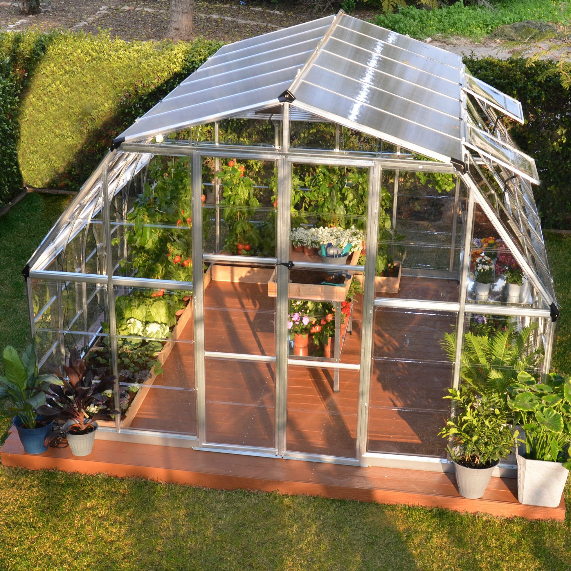 Palram 12 x 12 ft Americana Hybrid Greenhouse HG5212