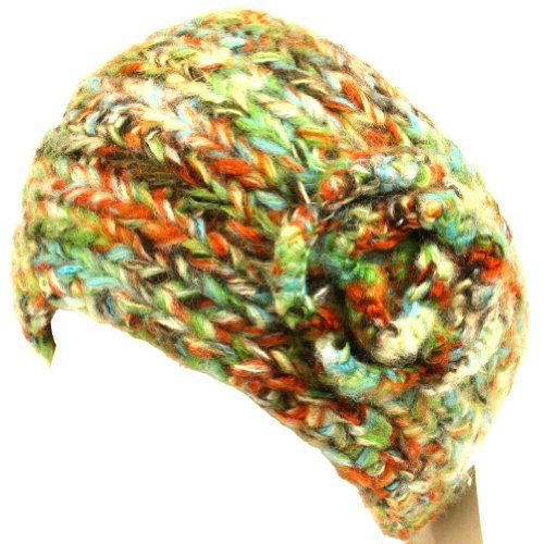 Adjustable Hand Knit Head wrap Headband Chunky Flower Olive with Multiple Colors. From #SK Hat shop. List Price: $39.95. Price: $14.95