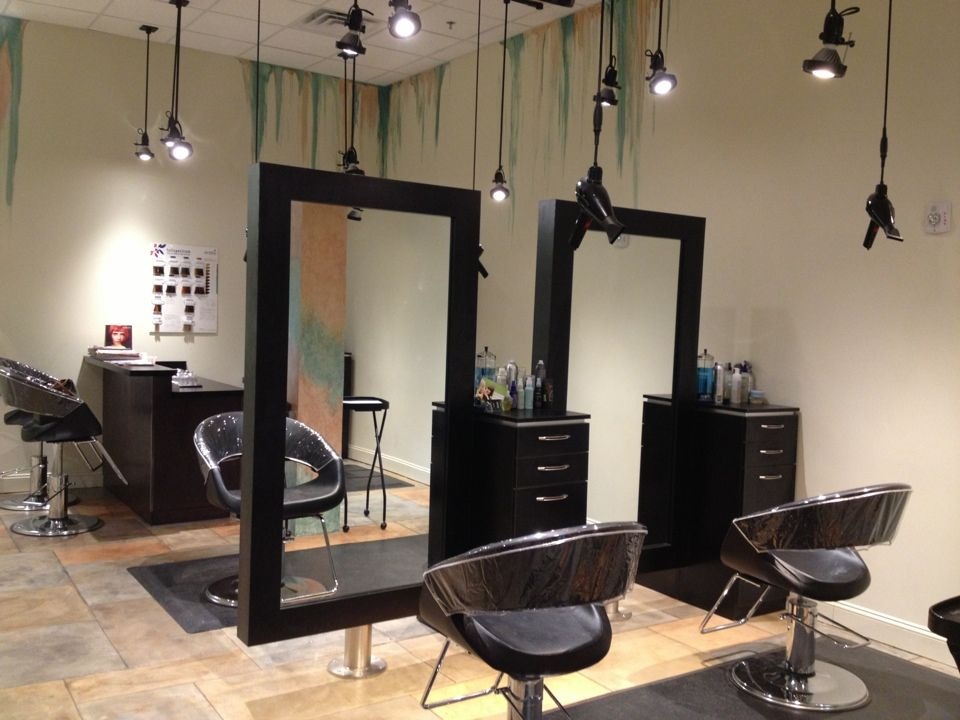 Salon stations spacious open wilmington location for Salon furniture makeup station
