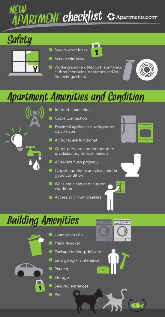 The New Apartment Checklist Your Guide To Touring Apartments