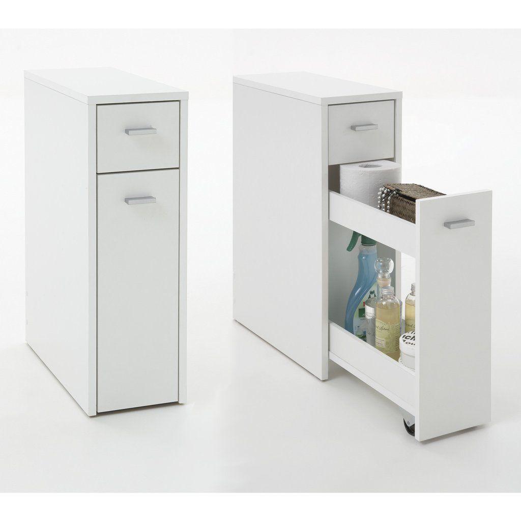 Denia Genius Slimline Bathroom Kitchen Slide Out Storage Drawer Unit