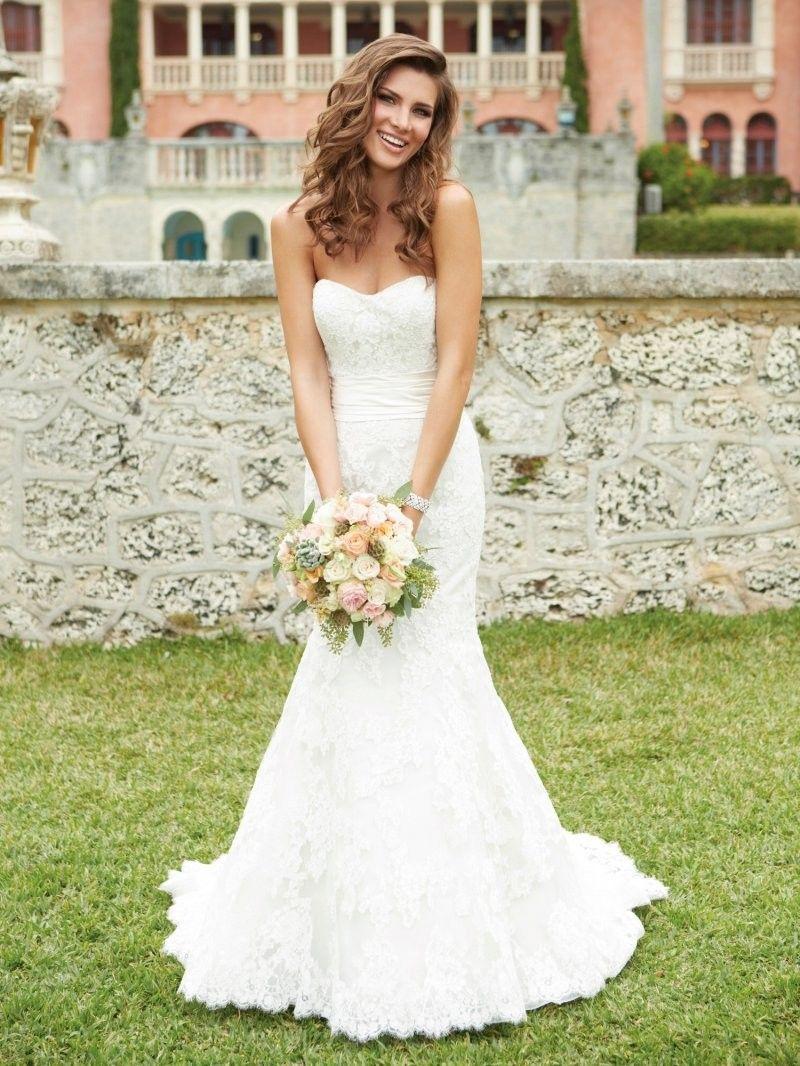 Mermaid lace wedding dress  Sleeveless Sweetheart Court Train Satin Trumpet Mermaid Wedding