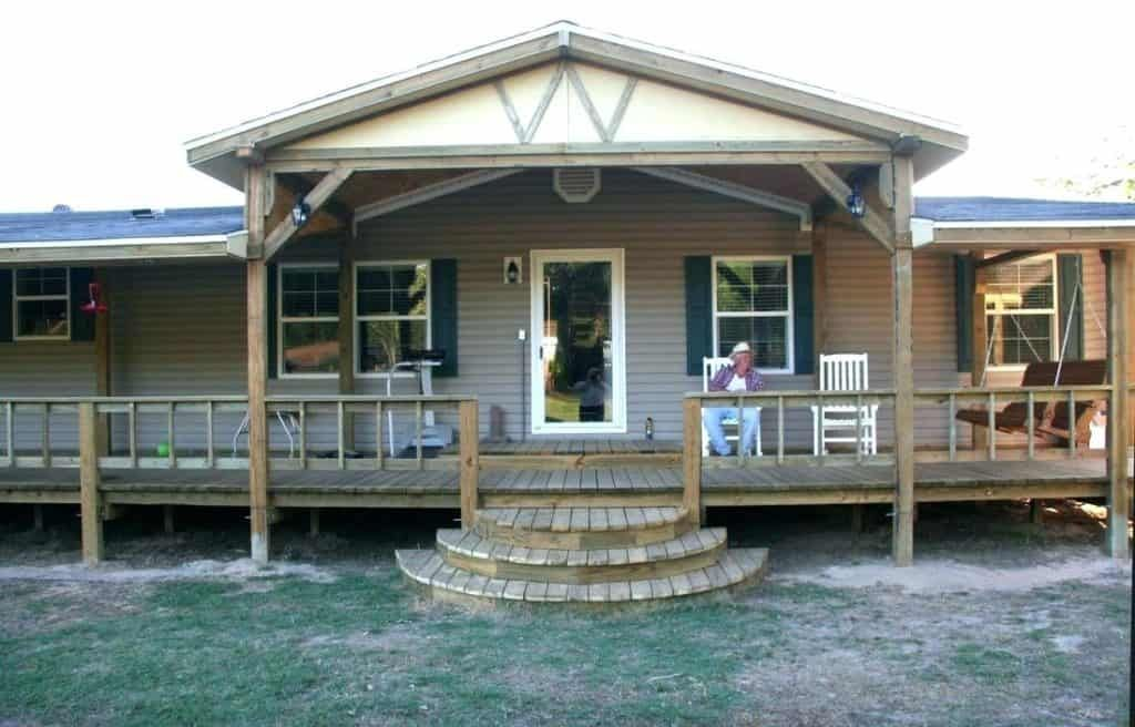 100 Great Manufactured Home Porch Designs How To Build Your Own Mobile Home Porch Manufactured Home Porch Remodeling Mobile Homes