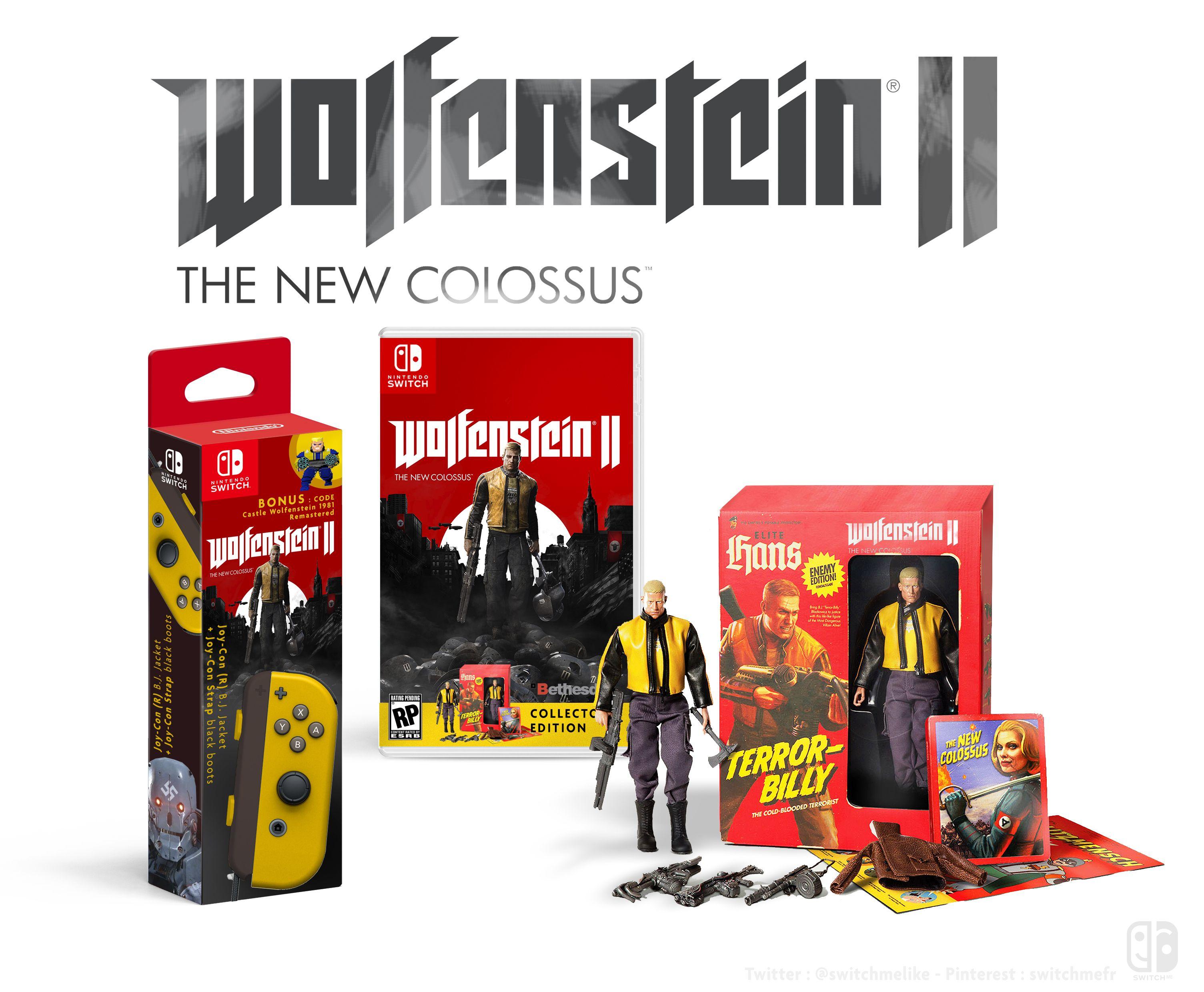 JoyCon R Wolfenstein 2 + game collector Edition
