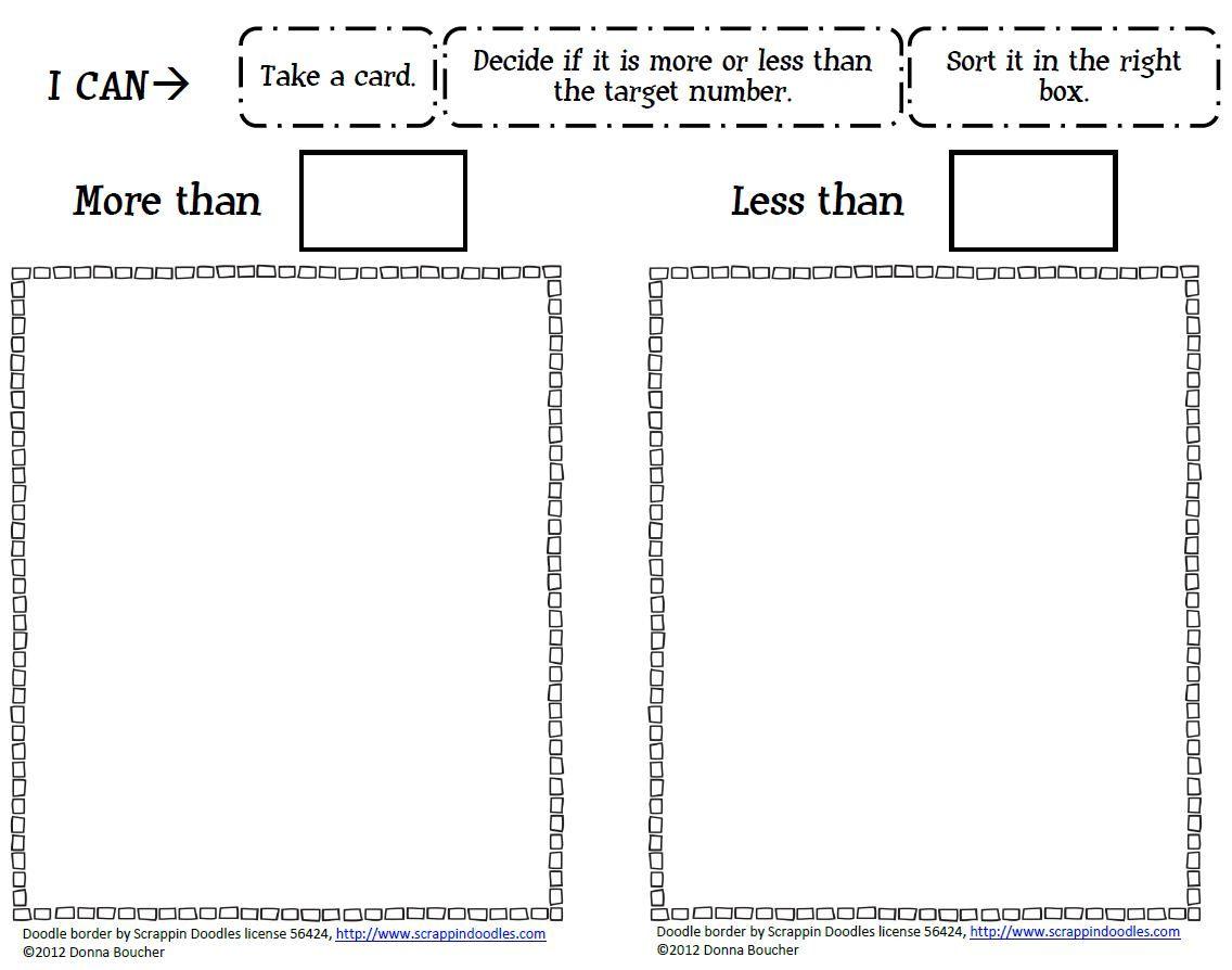 Workbooks kindergarten more than less than worksheets : Greater Than And Less Than Worksheets easy subtraction word ...