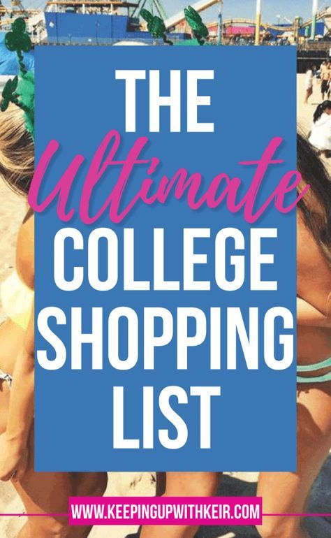 ultimate college shopping list free printable checklist dorm