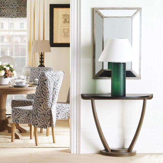 Half Table For Hallway half burlington console table, vintage oak   console tables