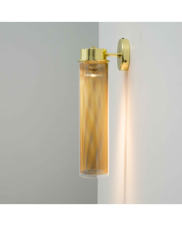 Aplique De Pared Vintage Tubo Cristal Liso Wall Lights Sconces Light