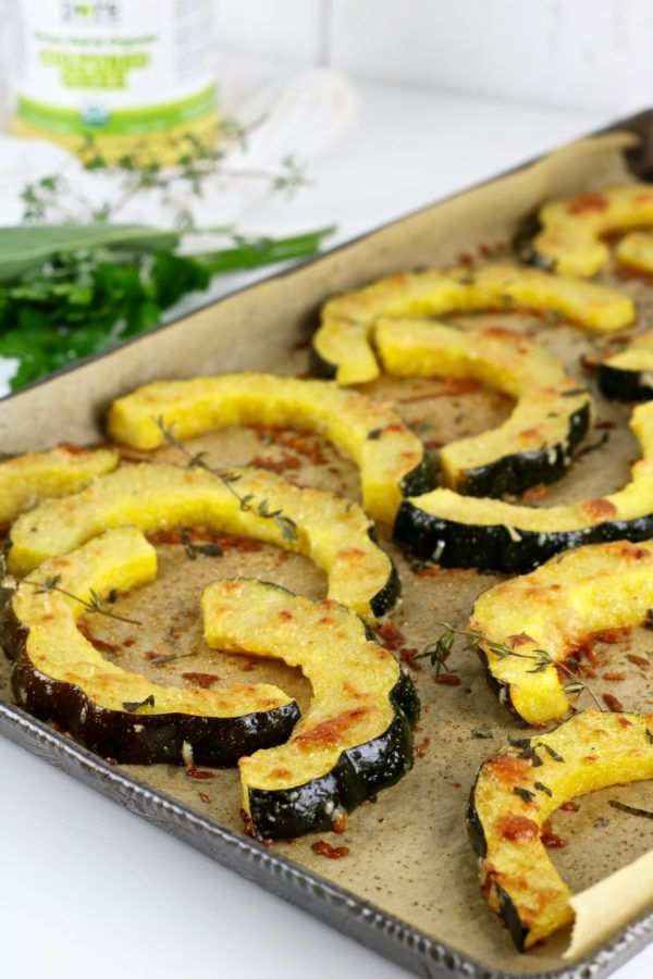 Herb Roasted Parmesan Acorn Squash Recipe With Images Acorn