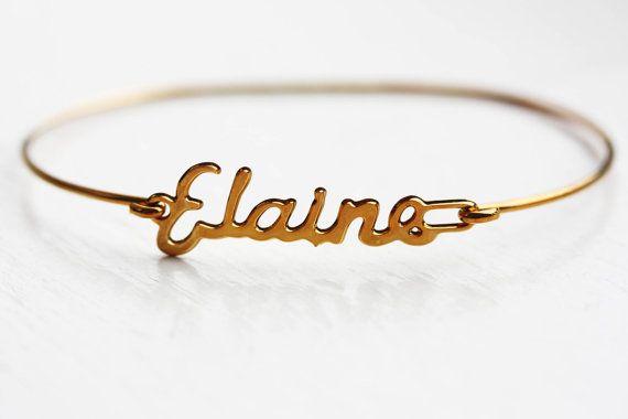 Vintage Name Bracelet Elaine by diamentdesigns on Etsy | Zoe