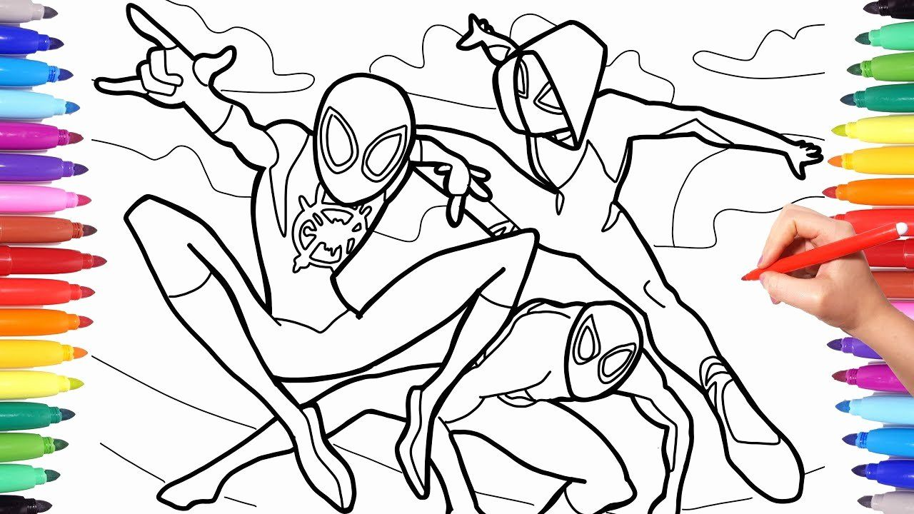 Miles Morales Coloring Page Lovely Spider Man Into The Spider Verse Coloring Pages How To In 2020 Coloring Pages Bee Coloring Pages Spiderman Coloring