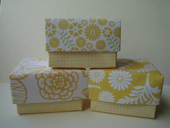 Gift boxes  set of 3 paper origami boxes by 2SweetBeans on Etsy, $6.75