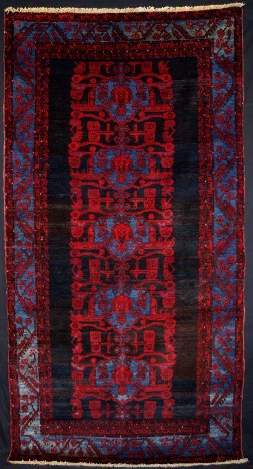 ANTIQUE TURKISH KOMURCU KULA RUG, GREAT DESIGN, CIRCA 1920
