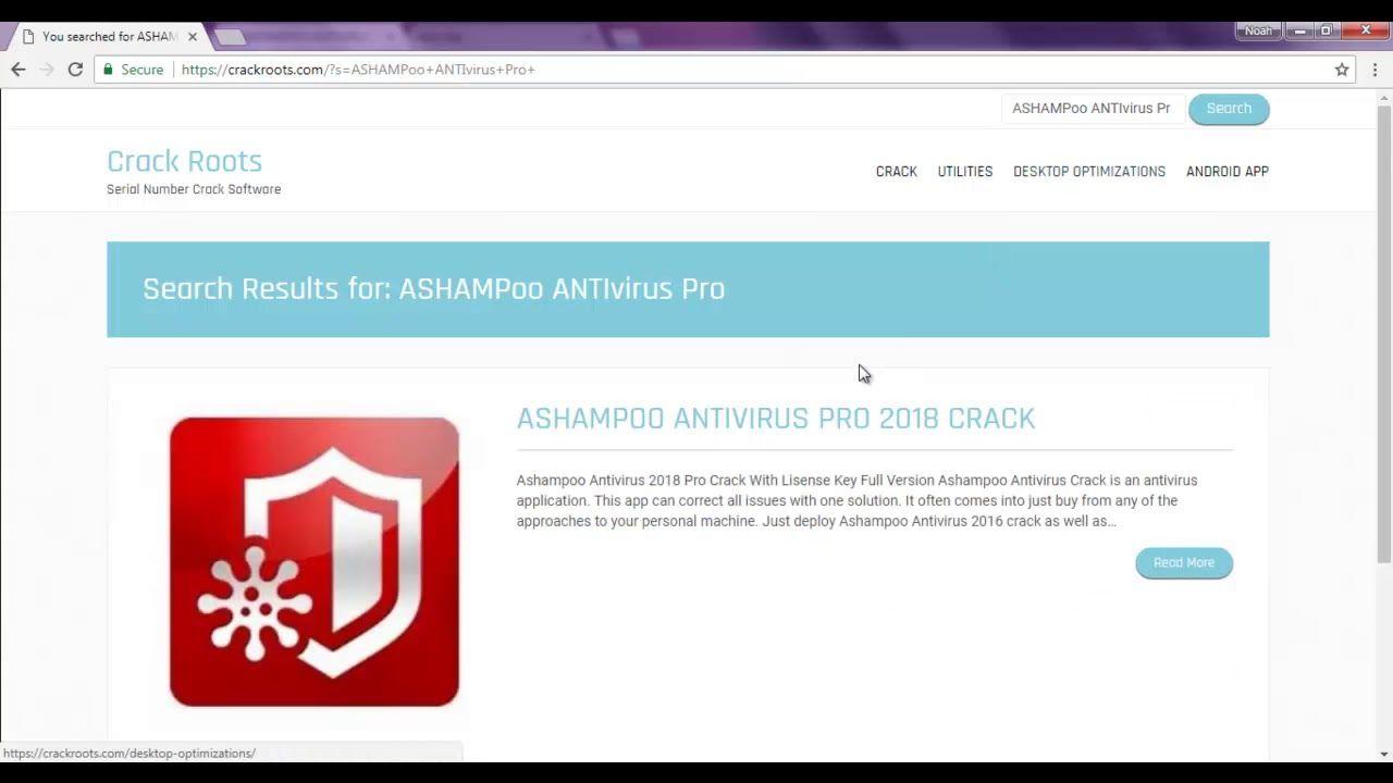 ashampoo antivirus 2018 crack