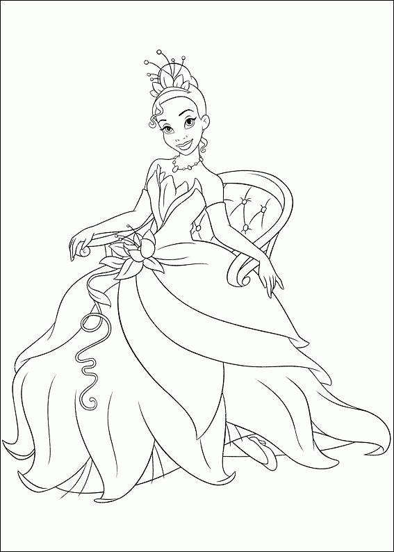 Free Printable Princess Tiana Coloring Pages For Kids Omaľovanky Deti A Svadba