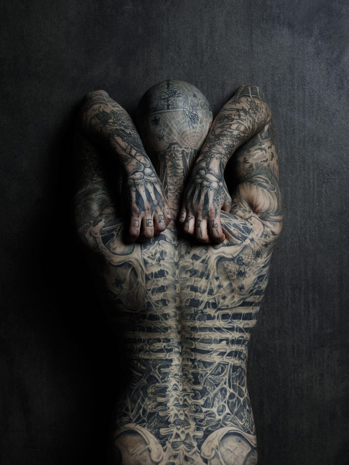 Tattoo ideas back piece rico the zombie  tattoo  tattoos  pinterest  rick genest zombie
