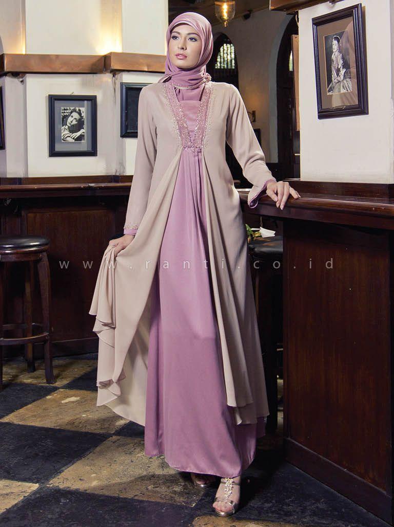 model gamis batik kombinasi brokat  Model pakaian muslim, Model