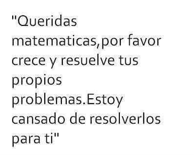 Para: Las Matematicas