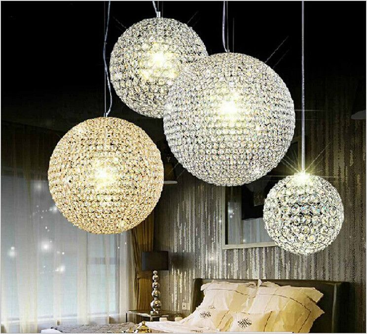 Luxurious Crystal Chandeliers Led Round Crystal Restaurant Chandeliers Bedroom Study Crystal Chandeliers For Voltage 90 260v Illuminazione Lampi