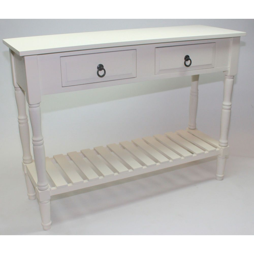 Console table hallway furniture storage drawers shelf country style