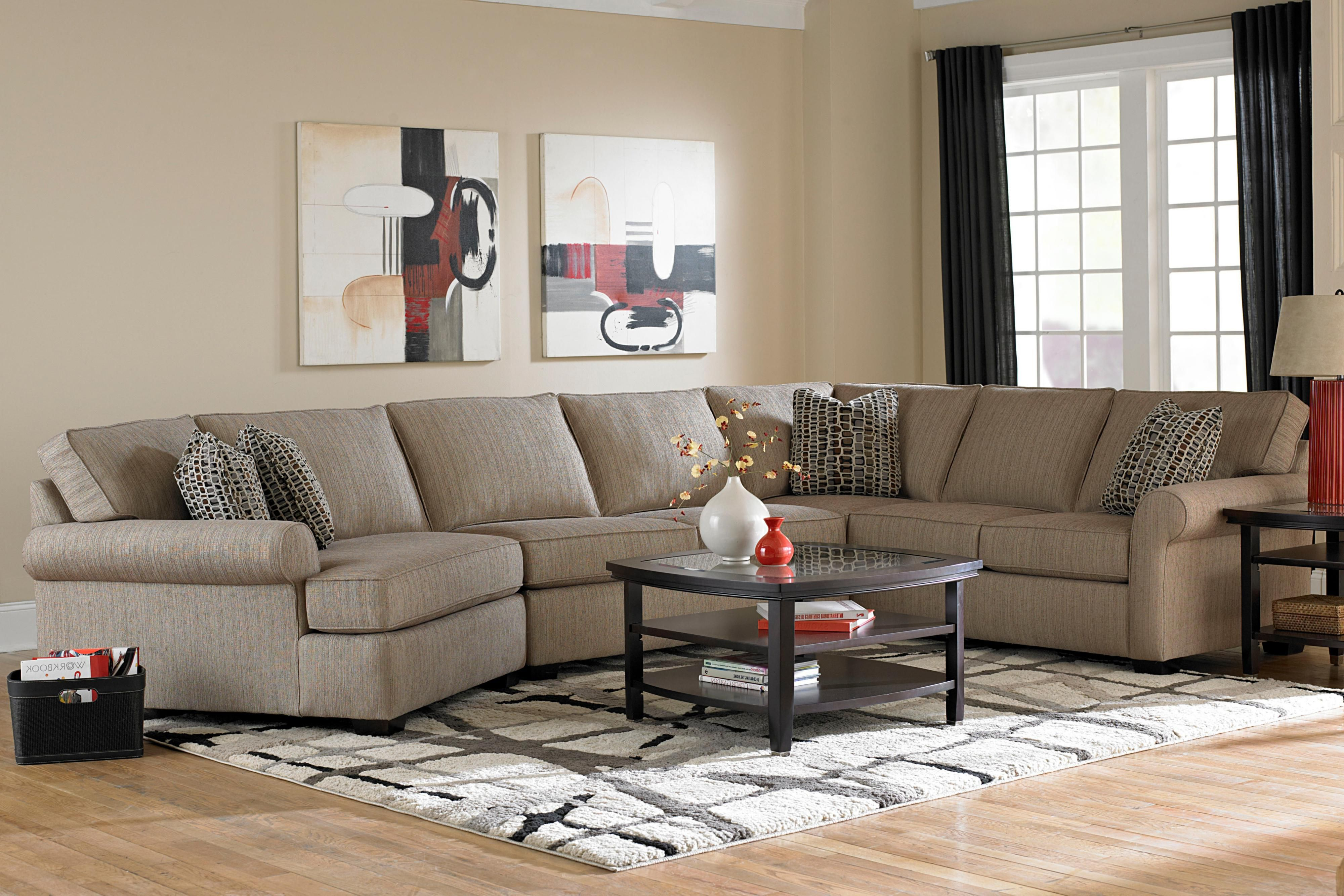 This Generously Sized Sectional Sofa Will Be The Perfect Addition To Your Living Room Or Family Broyhill Furniture Transitional Sectional Sofas Sectional Sofa