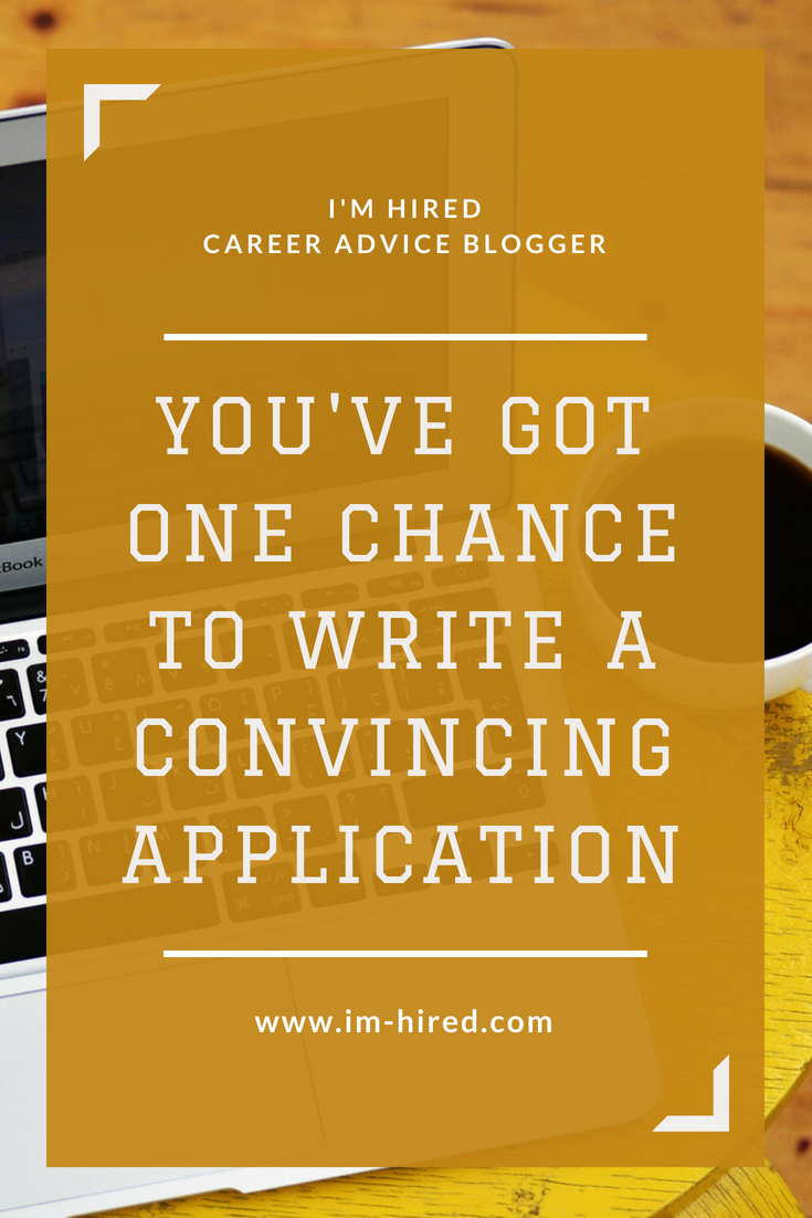 Sending your application is the first step