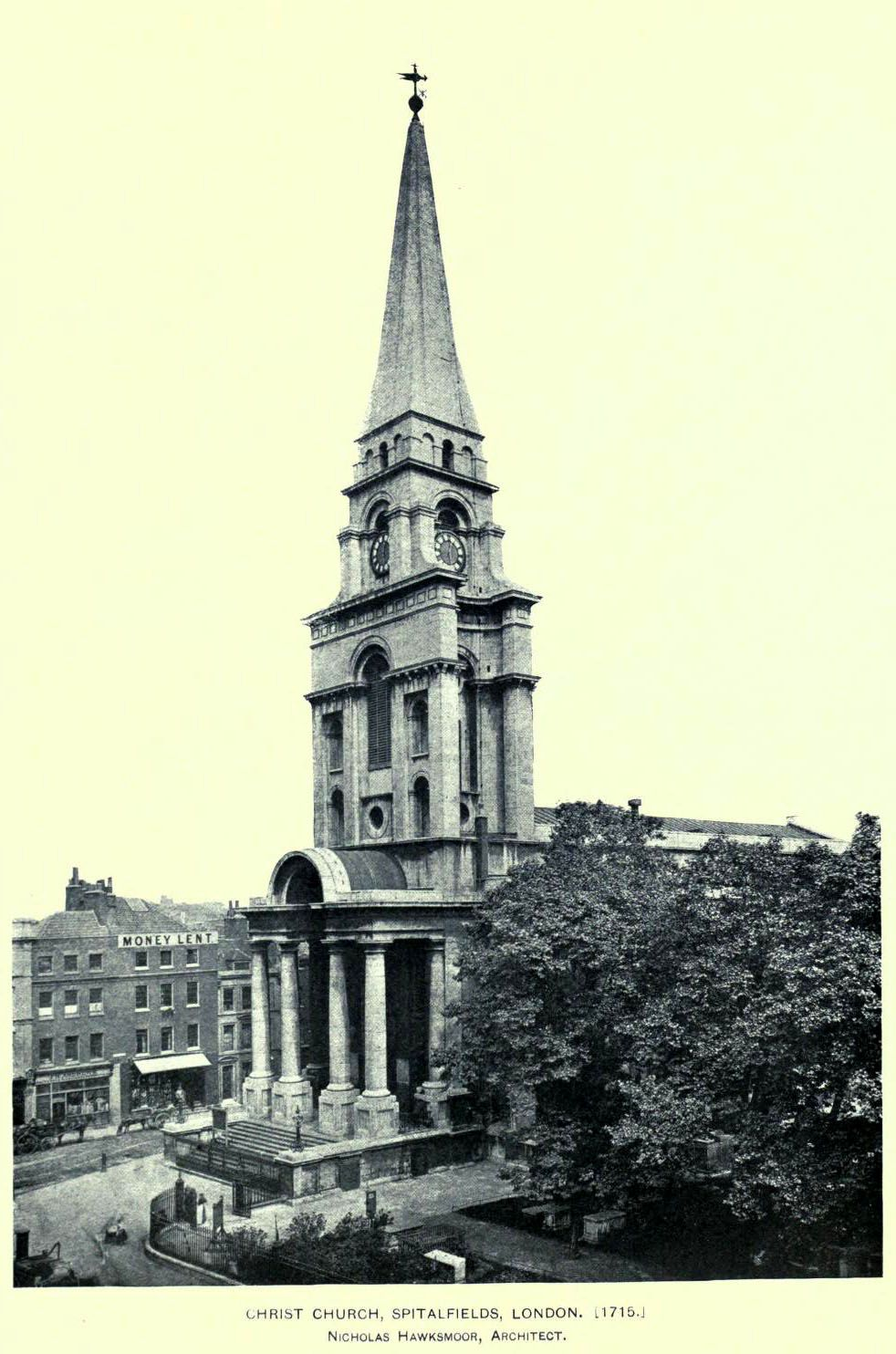 Spitalfields London: Christ Church In Spitalfields, London, Nicholas Hawksmoor