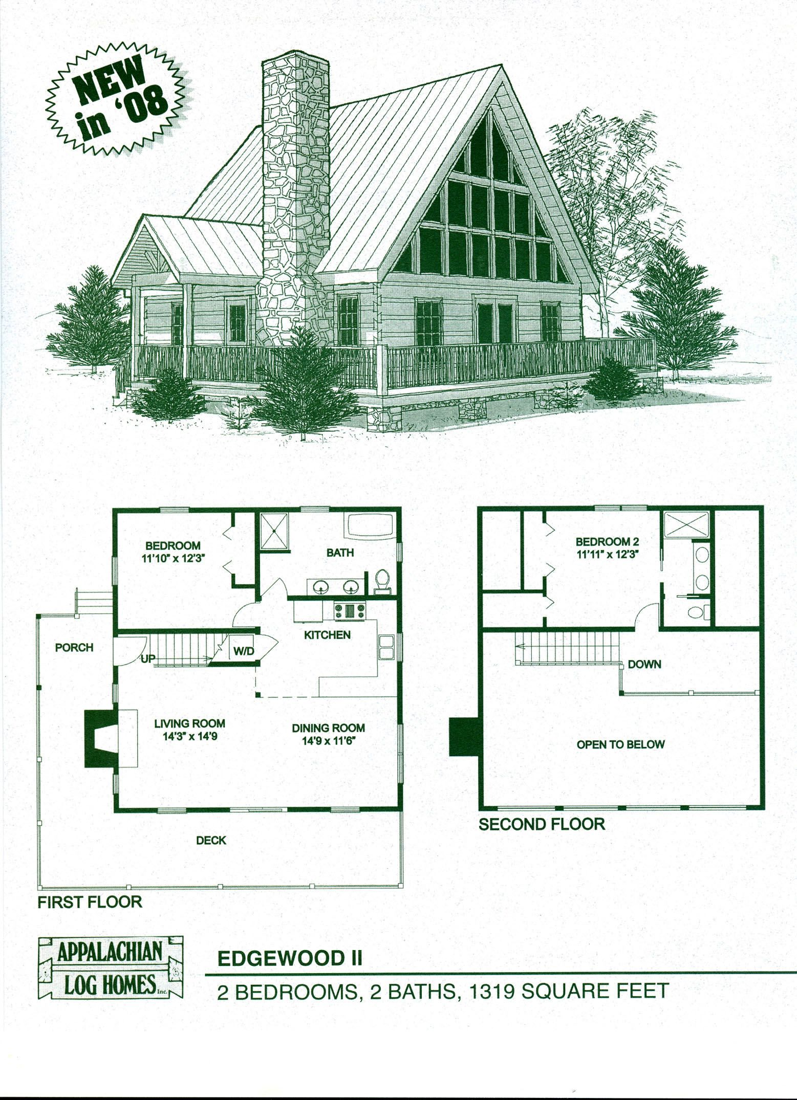 Loft House Plan Log Home Floor Plans Log Cabin Kits Appalachian Log
