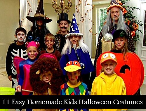 11 Easy Homemade Kids Halloween Costume Ideas Halloween Costumes For Kids Halloween Costumes Kids Homemade Halloween Kids