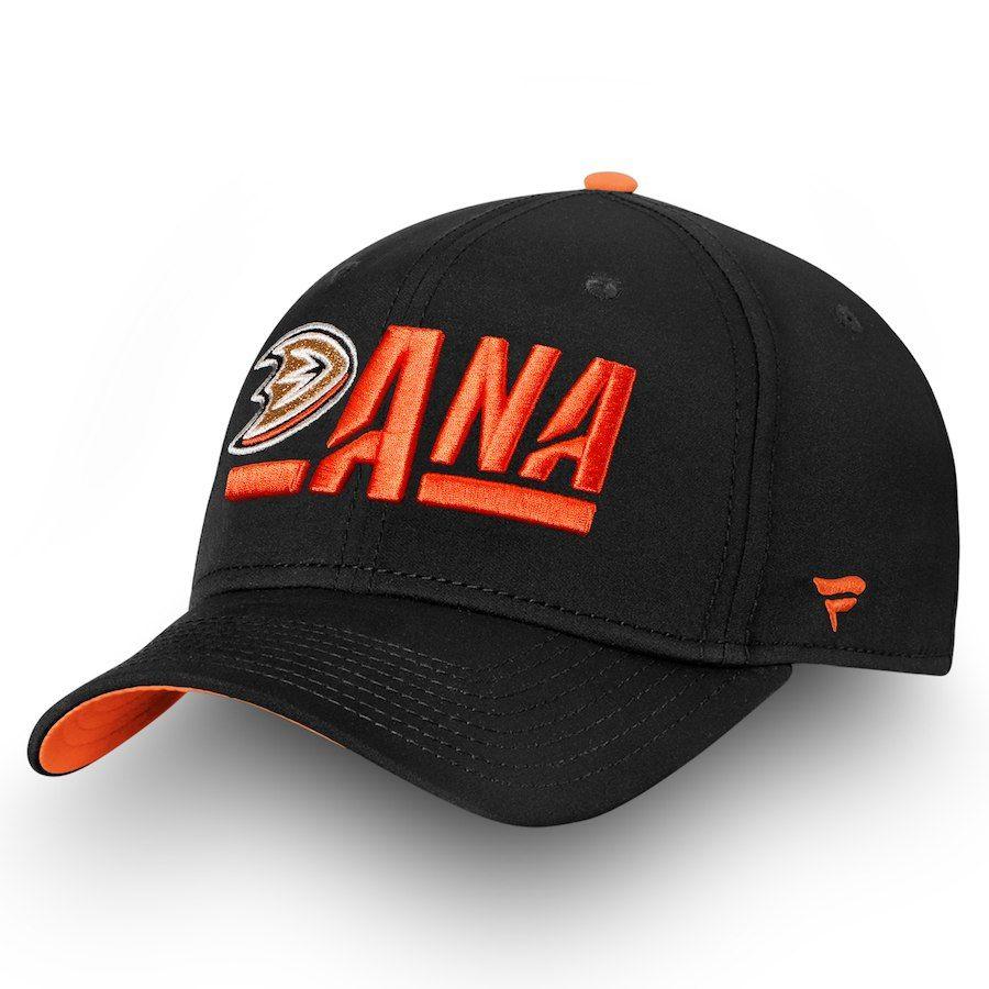 39db5c53f34757 Men's Anaheim Ducks Fanatics Branded Black/Orange Authentic Pro Rinkside Alpha  Adjustable Hat, $27.99
