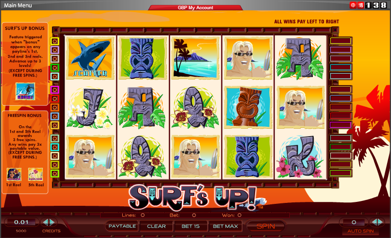 Spiele SurfS Up - Video Slots Online