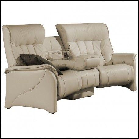 The Himolla Rhine Curved 3 Seater Sofa Recliner Leather